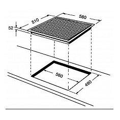 ACM802NE WHIRLPOOL Inductie kookplaat