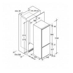 BCBS172T CANDY Inbouw koelkasten vanaf 178 cm