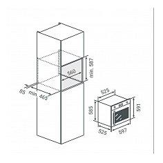 BPMDN60ANR BORETTI Inbouw oven
