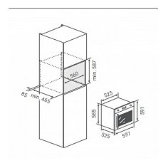 BPMDN60IXR BORETTI Inbouw oven