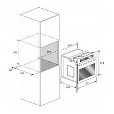 BPZN60ZWGL BORETTI Inbouw oven