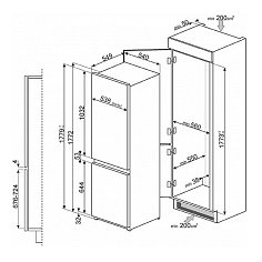 C7280FP1 SMEG Inbouw koelkast vanaf 178 cm