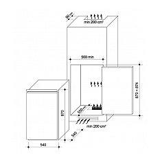 CBO150E CANDY Inbouw koelkasten t/m 88 cm