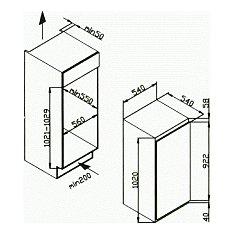 CIL200E CANDY Inbouw koelkasten rond 102 cm