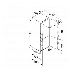 CNEF433521 LIEBHERR Vrijstaande koelkast