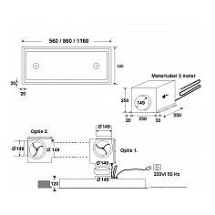 CP9086A+ AIRO Inbouwunit (externe motor)