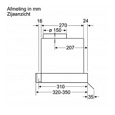 DBB66AF50 BOSCH Geintegreerde afzuigkap