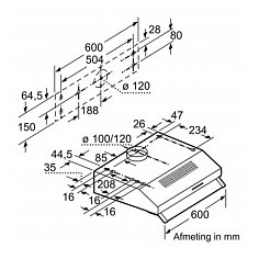 DUL60FA50 BOSCH Onderbouwkap (motorloos)