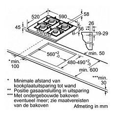 EP6A6PC20N SIEMENS Gas op glas kookplaat