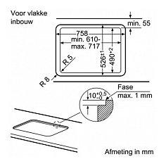 EP7A6SC20N SIEMENS Gas op glas kookplaat