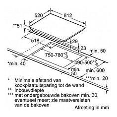 EX877LVV1E SIEMENS Inductie kookplaat