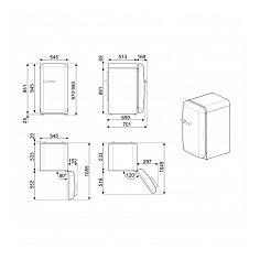 FAB10RDUJ5 SMEG Vrijstaande koelkast