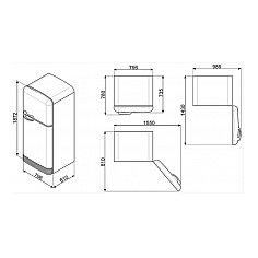 FAB50RPG SMEG Vrijstaande koelkast