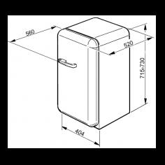FAB5RSV SMEG Vrijstaande koelkast
