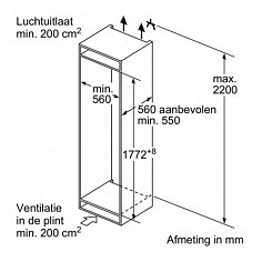GI7813C30 NEFF Inbouw vriezer