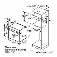 HBA556BS0 BOSCH Inbouw oven