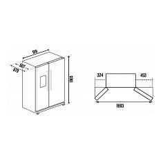 KE975002T KUPPERSBUSCH Amerikaanse koelkast