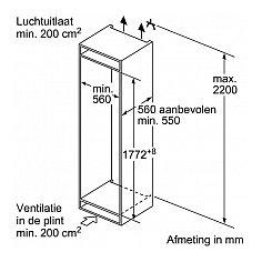 KI1816F30 NEFF Inbouw koelkast vanaf 178 cm
