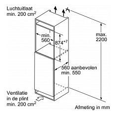 KI21RGD30 SIEMENS Inbouw koelkasten t/m 88 cm