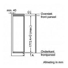 KI81RADE0 SIEMENS Inbouw koelkast vanaf 178 cm