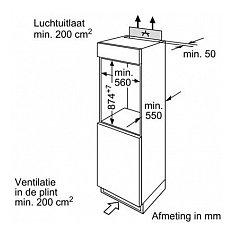KIR18V60 BOSCH Inbouw koelkasten t/m 88 cm