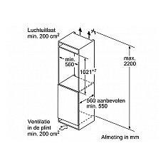KIR31AD40 BOSCH Inbouw koelkasten rond 102 cm