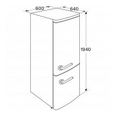 KVV594BEI ETNA Vrijstaande koelkast