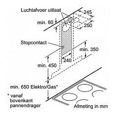 LC60BA530 SIEMENS Wandschouwkap (motorloos)