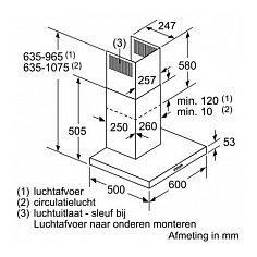 LC66BBM50 SIEMENS Wandschouw afzuigkap