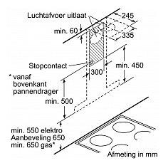 LC91BUV55 SIEMENS Wandschouw afzuigkap