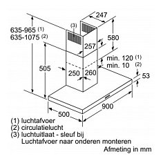 LC94BBC50 SIEMENS Wandschouw afzuigkap