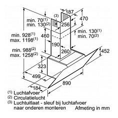 LC98KLR61S SIEMENS Schuine afzuigkap