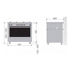 MXD19050RV LOFRA Fornuis 90 cm