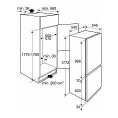 PCS3178L PELGRIM Inbouw koelkasten vanaf 178 cm
