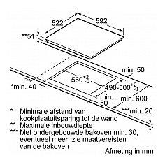 PIE611BB1E BOSCH Inductie kookplaat