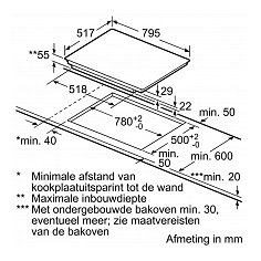 PIE845BB1E BOSCH Inductie kookplaat