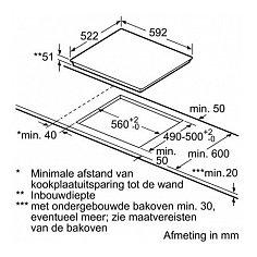 PUE611BF1E BOSCH Inductie kookplaat