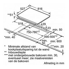 PVW895FC5E BOSCH Inductie kookplaat