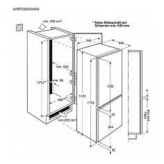 SCB61811LS AEG Inbouw koelkasten vanaf 178 cm