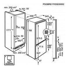 SCE81846NC AEG Inbouw koelkasten vanaf 178 cm