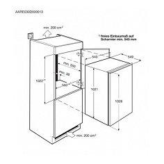 SKB41011AS AEG Inbouw koelkasten rond 102 cm