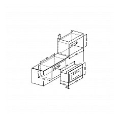 SPDR90AN BORETTI Inbouw oven