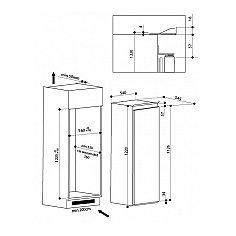 SZ12A2DI INDESIT Inbouw koelkasten rond 122 cm