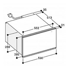 WSP222100 GAGGENAU Serviesverwarmer