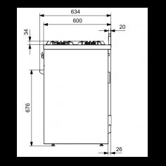 X10FF6NA STEEL Fornuis 100 cm