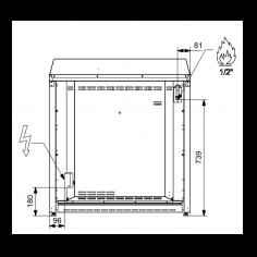 X9F6BR STEEL Fornuis 90 cm