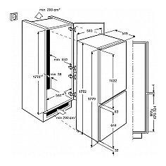 ZBB29445SA ZANUSSI Inbouw koelkasten vanaf 178 cm