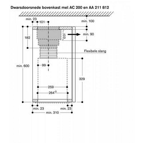 AC200161 GAGGENAU Inbouwunit afzuigkap