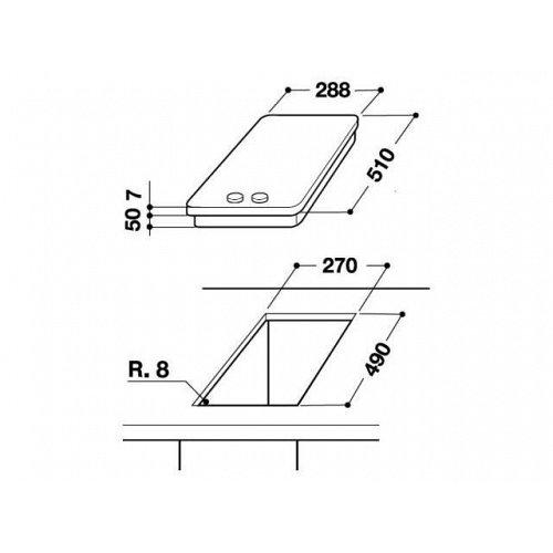 AKT316IX WHIRLPOOL Keramische kookplaat (domino)