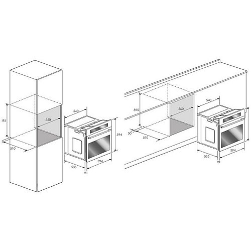 BPON60IX BORETTI Inbouw oven